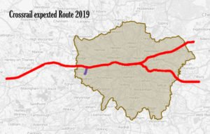 Crossrail expected route 2019